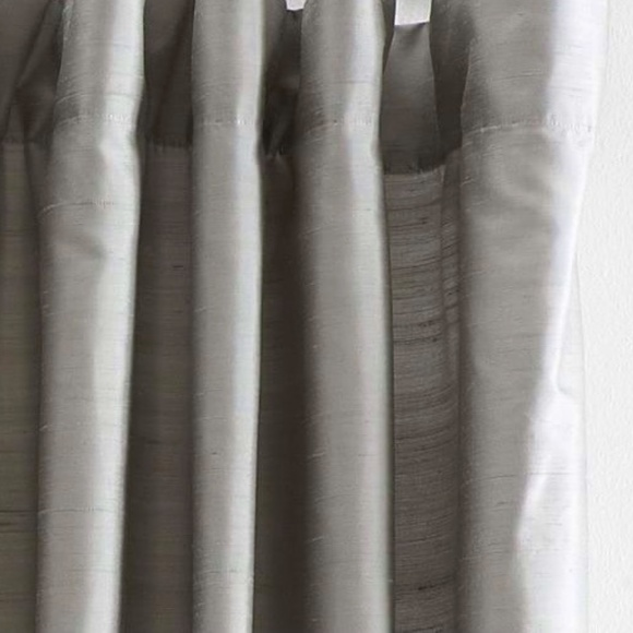 2-Panels Pottery Barn Silk Dupioni Gray Curtains